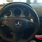 behind the wheel of the c63. btw, those seats hug you tight!